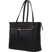 "Knomo Grosvenor Place Expandable Zip Top Tote 15"" Black"