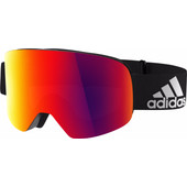 Adidas Backland Black Matt + Red Mirror Lens
