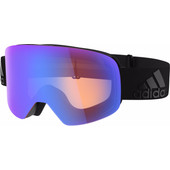 Adidas Backland Black Matt + Bright Blue Mirror Lens