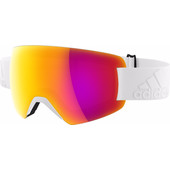 Adidas Progressor Splite White Shiny + Purple Mirror Lens