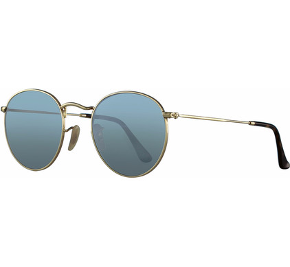 Ray-Ban Round RB3447N Shiny Gold / Wisteria Flash