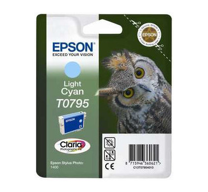 Epson T0795 Ink Cartridge Light Cyan (licht blauw) C13T07954010
