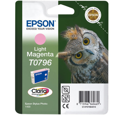 Epson T0796 Ink Cartridge Light Magenta (licht rood) C13T07964010