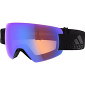 Adidas Progressor Splite Black + Bright Blue Mirror Lens