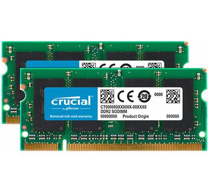Crucial 4 GB SODIMM DDR2-667 2 x 2 GB