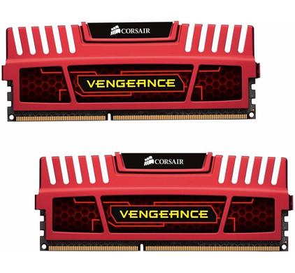Corsair Vengeance 8 GB DIMM DDR3-1600 CL9 Rood 2 x 4 GB