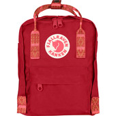 Fjällräven Kånken Mini Deep Red-Folk Blocked