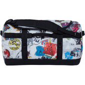The North Face Base Camp Duffel Red Sticker Bomb Decay Print/TNF Black- S