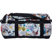 The North Face Base Camp Duffel Red Bomb Decay Print/Black L