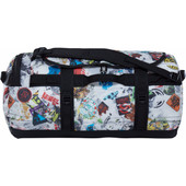 The North Face Base Camp Duffel TNF Red Sticker Bomb Decay Print/TNF Black - M