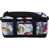 The North Face Base Camp Duffel TNF Red Sticker Bomb Decay Print/TNF Black XS