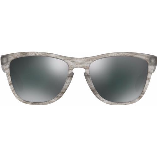 Oakley Frogskins Matte Grey Woodgrain/ Black Iridium Lens