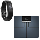 Garmin Index Smart Scale Zwart + Vivosmart 3 HR Zwart S/M
