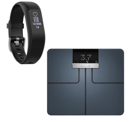 Garmin Index Smart Scale Zwart + Vivosmart 3 HR Zwart S/M