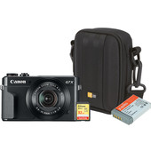 Zomerkit - Canon Powershot G7 X II + Geheugen + Tas + Extra accu