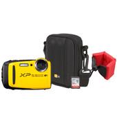 Zomerkit - Fujifilm XP120 Geel + Geheugen + Tas + Floating Strap