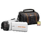 Zomerkit - JVC GZ-R435WEU + Geheugen + Tas