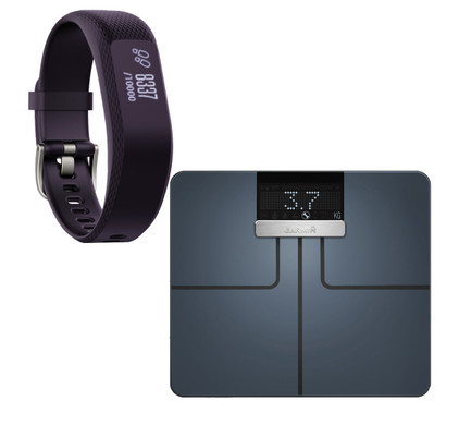 Garmin Index Smart Scale Zwart + Vivosmart 3 HR Paars S/M