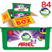 Ariel 3in1 Pods Colour & Style Kwartaalbox 84st