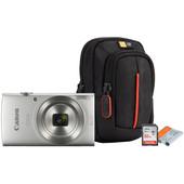 Starterskit - Canon IXUS 185 Zilver + Geheugen + Tas + Accu