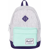 Herschel Heritage Mini Case Light Grey Cross/Lucite Green/Parach Purple