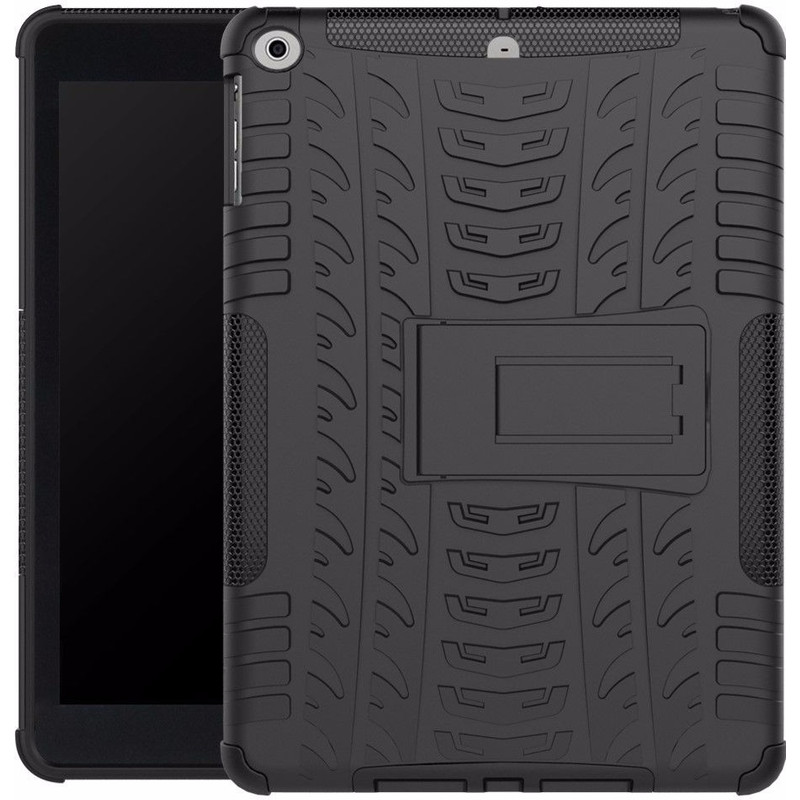 Just in Case Apple iPad (2017) Rugged Hoes Zwart