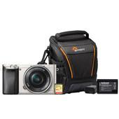 Starterskit - Sony Alpha A6000 Zilver + 16-50mm + Geheugenkaart + Tas + Extra accu