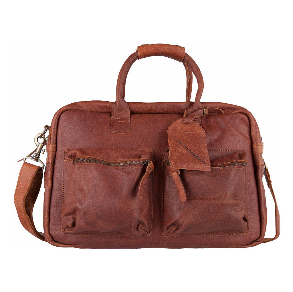 103a4003f0f Naar Coolblue · Schoudertassen Cowboysbag Cowboysbag The College Bag Cognac  · Product