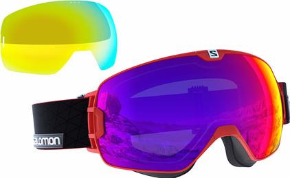 Salomon Xmax Red + Infrared & Yellow Lenzen
