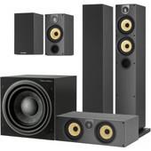 Bowers & Wilkins 684 S2 + ASW610 5.1 Speakerset Zwart