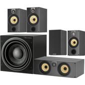 Bowers & Wilkins 685 S2 + ASW608 5.1 Speakerset Zwart