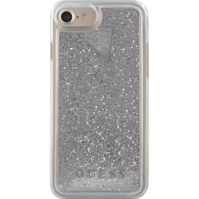 Guess Glitter Apple iPhone 6/6s/7 Back Cover Zilver