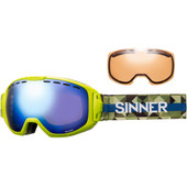 Sinner Mohawk Matte Lime Green + Blue Mirror & Double Orange