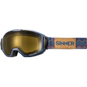 Sinner Mohawk Matte Blue + Orange Sintec Polarized / Trans+ Photochromic Lens