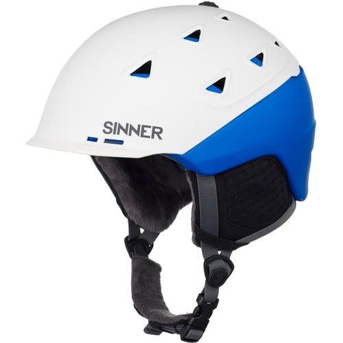 Sinner Stoneham Matte White/Blue (59 - 60 cm)