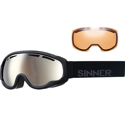 Sinner Fierce Matte Black + Orange Mirror & Double Orange Lenzen
