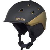 Sinner Stoneham Matte Black/Gold (55 - 56 cm)