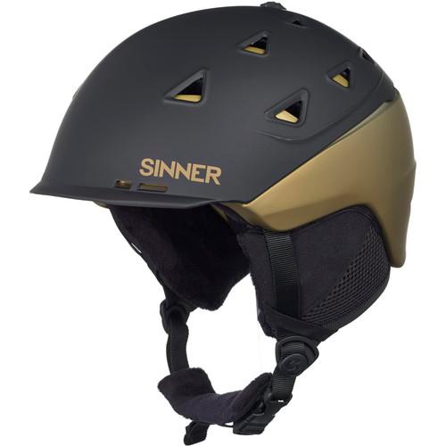 Sinner Stoneham Matte Black/Gold (59 - 60 cm)