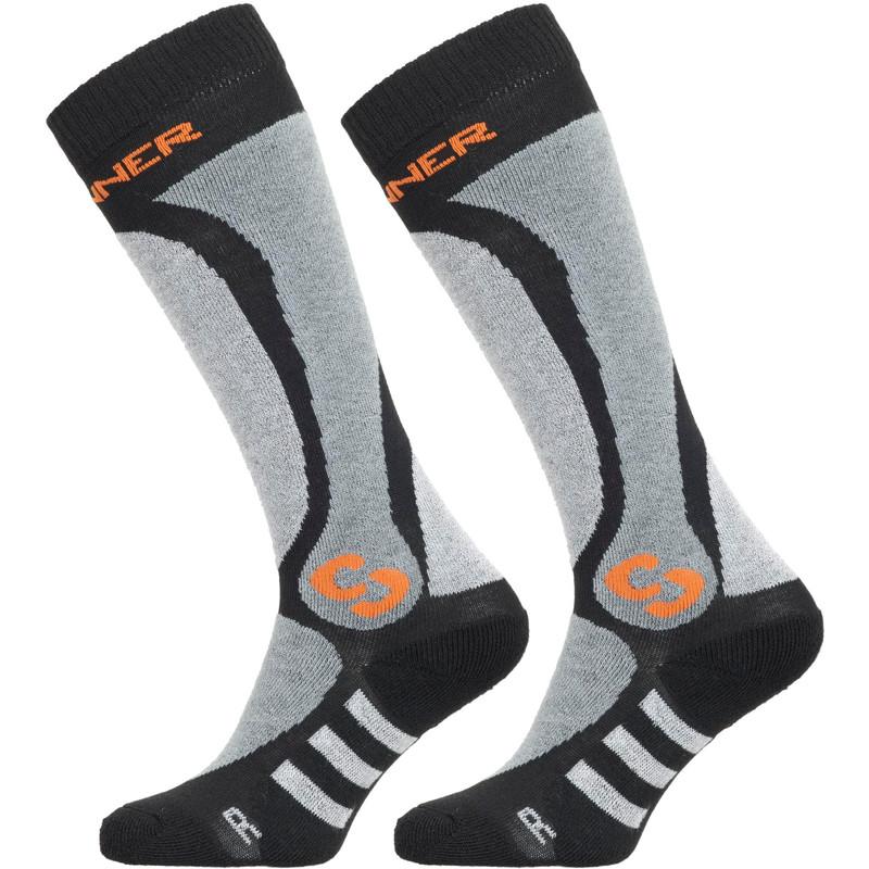 Dagaanbieding: Sinner Pro Socks Black/Grey/Orange Size 39-41