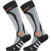 Sinner Pro Socks Black/Grey/Orange Size 45-47