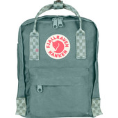 Fjällräven Kånken Mini Frost Green Chess Patern