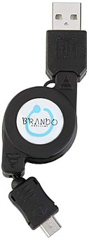 Brando Retractable USB Cable MicroUSB
