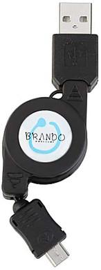 Brando Retractable USB Cable MicroUSB