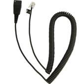 GN Netcom QD RJ10 gekrulde Lucent & Cisco kabel