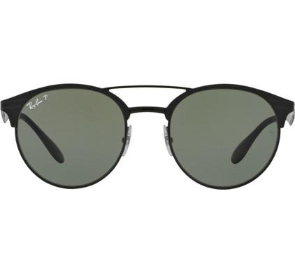 Ray-Ban RB3545 Shiny Black Top Matte Black / Polarized Green