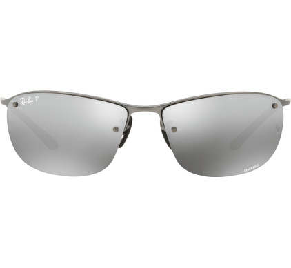 Ray-Ban Chromance RB3542 Matte Gun / Grey Mirror Silver Polarized
