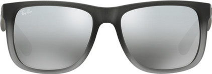 Ray-Ban Justin RB4165 Rubber Grey Transparent / Grey Silver Mirror Gradient