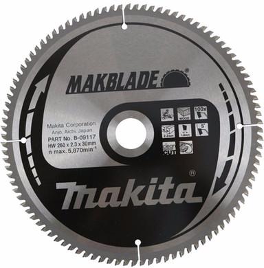 Makita Zaagblad Hout 260x30x2,3 100T