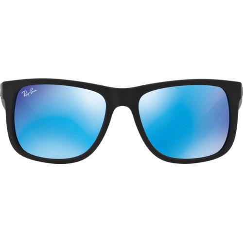 Ray-Ban Justin RB4165 Black Rubber / Green Mirror Blue Lens