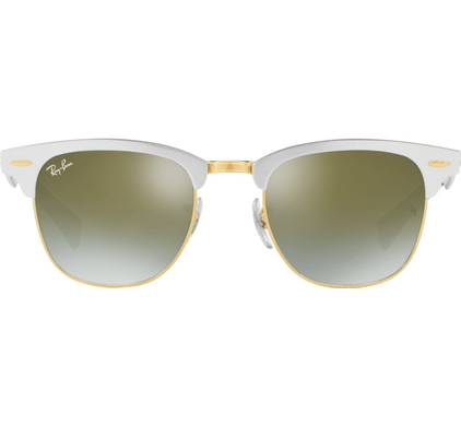 Ray-Ban Clubmaster RB3507 Brushed Silver / Green Flash Gradient